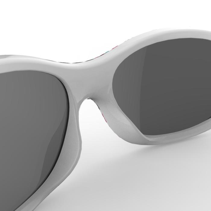 Sonnenbrille Wandern MH120 Kategorie4 Kleinkinder 2-4 Jahre Blumen rosa