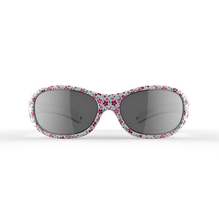Kid 520 W 兒童健行運動太陽眼鏡 適合2-4歲配戴 4號鏡片 - 粉紅花朵