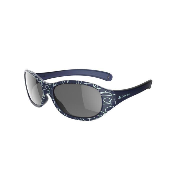 Gafas de sol de senderismo niños 2-4 años MH K 520 azules categoría 4