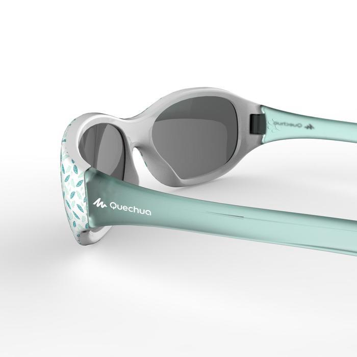 Gafas de sol de senderismo niños 2-4 años MH K 520 flores verde categoría 4