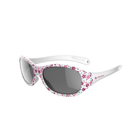 Lentes de sol de senderismo júnior 2-4 años MH K 520 flores rosa categoría 4