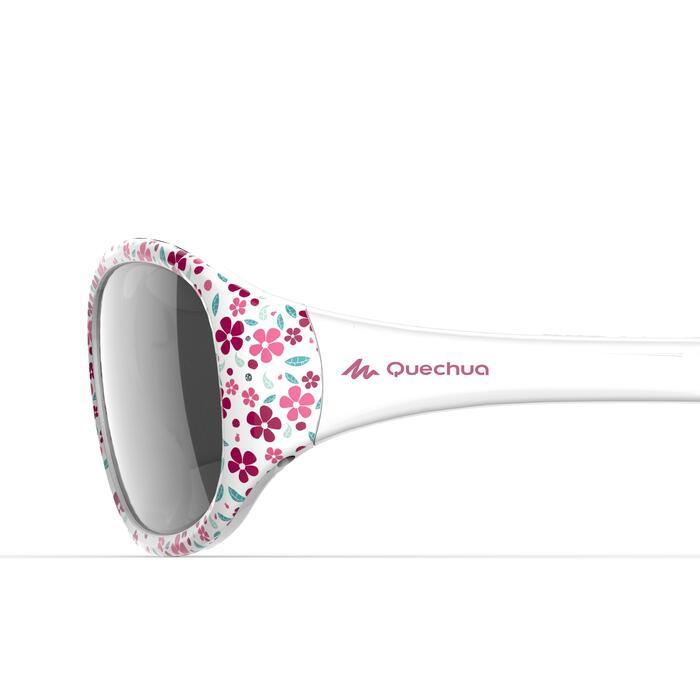 Zonnebril voor kinderen 2-4 jaar wandelen MH K120 bloemen roze categorie 4