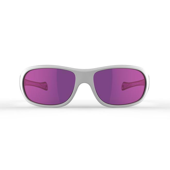 Gafas de sol senderismo niños 8-10 años MH T500 blanco categoría 4