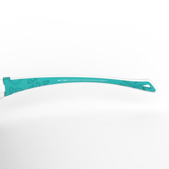 Gafas de sol de senderismo niños 7-10 años MH T500 blanco/azul categoría 4