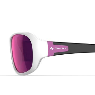 Children's Category 4 Hiking Sunglasses Ages 8-10 MH T500 - White