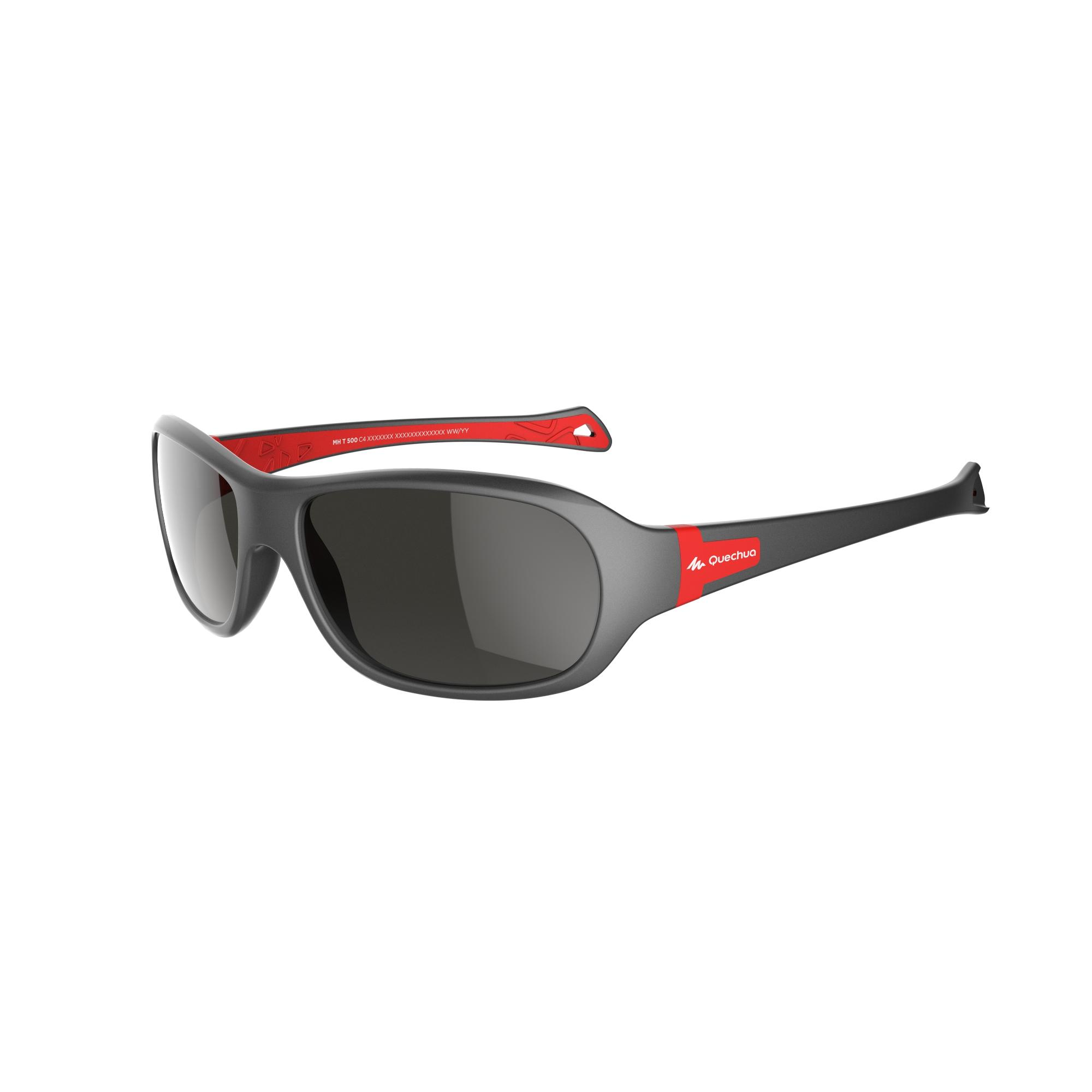 MH T 500 Children Hiking Sunglasses Ages 7-10 Category 4 - Grey