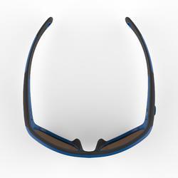 Sonnenbrille MH K140 Bergwandern Kinder Kategorie4 blau/orange