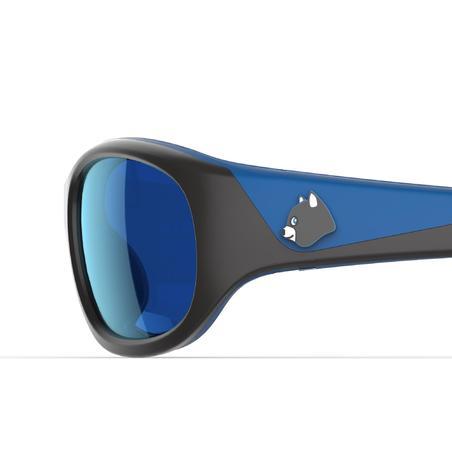 Дитячі сонцезахисні окуляри K140 для гірського туризму, кат. 4 - Чорні/Блактині