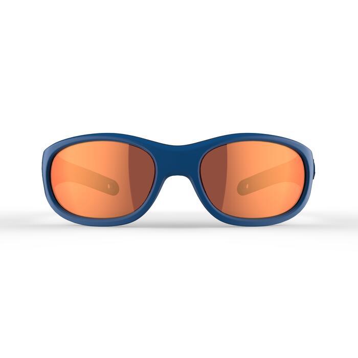 Lunettes de soleil randonnée enfant 5-6 ans MH K140 bleues/orange catégorie 4