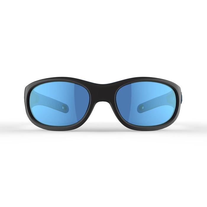 Kid 900 W 兒童健行運動太陽眼鏡 適合4-6歲配戴 4號鏡片 - 黑色/藍色
