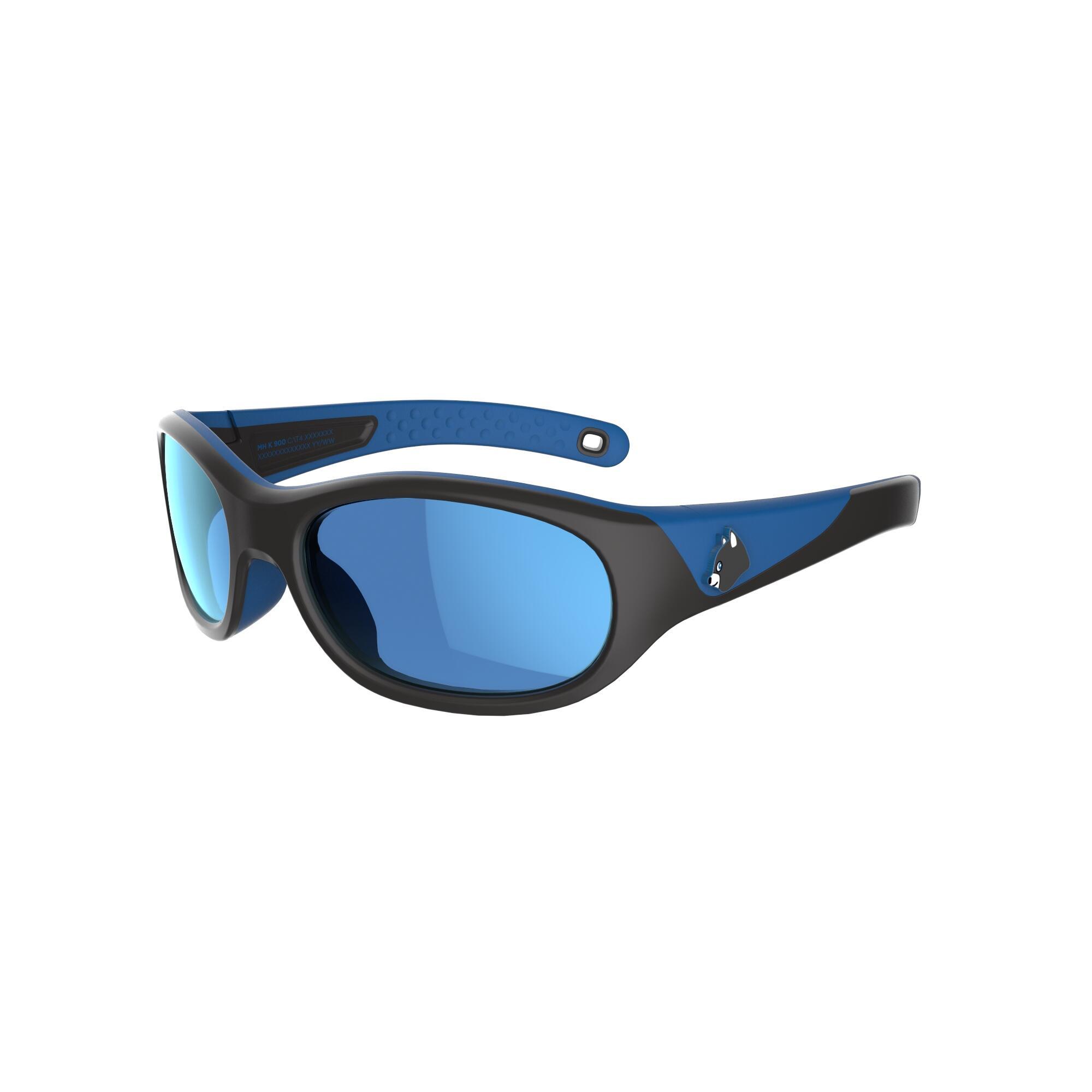 Lentes de sol de senderismo niños 4-6 años MH K 900 azul/negro categoría 4