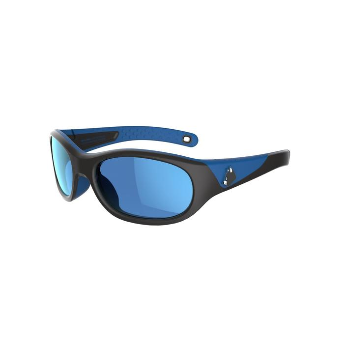 Lunettes de soleil randonnée enfant 5-6 ans MH K140 bleues/noires catégorie 4