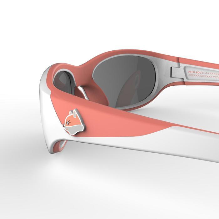 Zonnebril trekking voor kinderen 4-6 jaar MH K 900 wit / oranje categorie 4