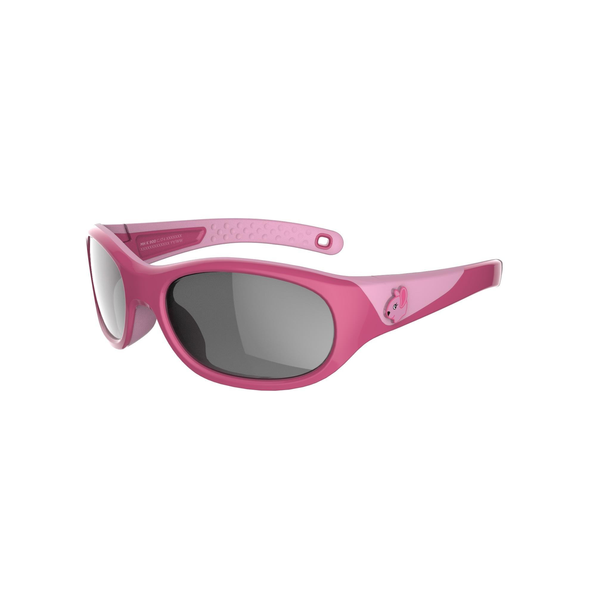 Lentes de sol de senderismo niños 4-6 años MH K 900 rosa categoría 4