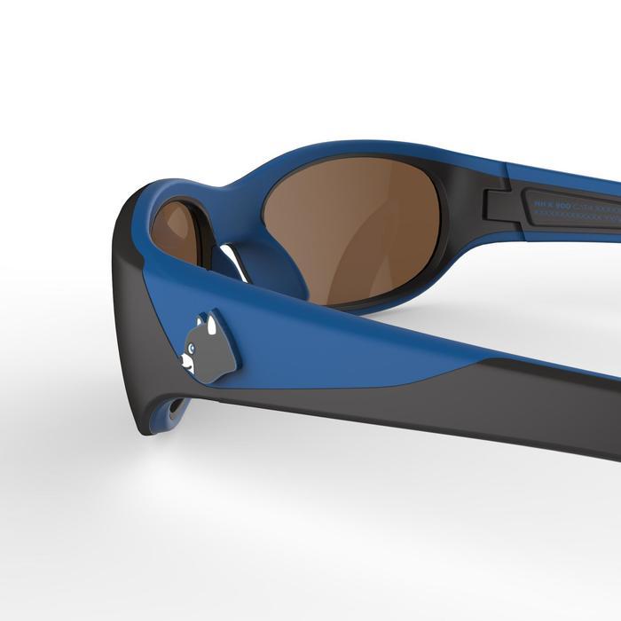 兒童款健行太陽眼鏡(5到6歲,濾鏡分類4)MH K140-黑色/藍色