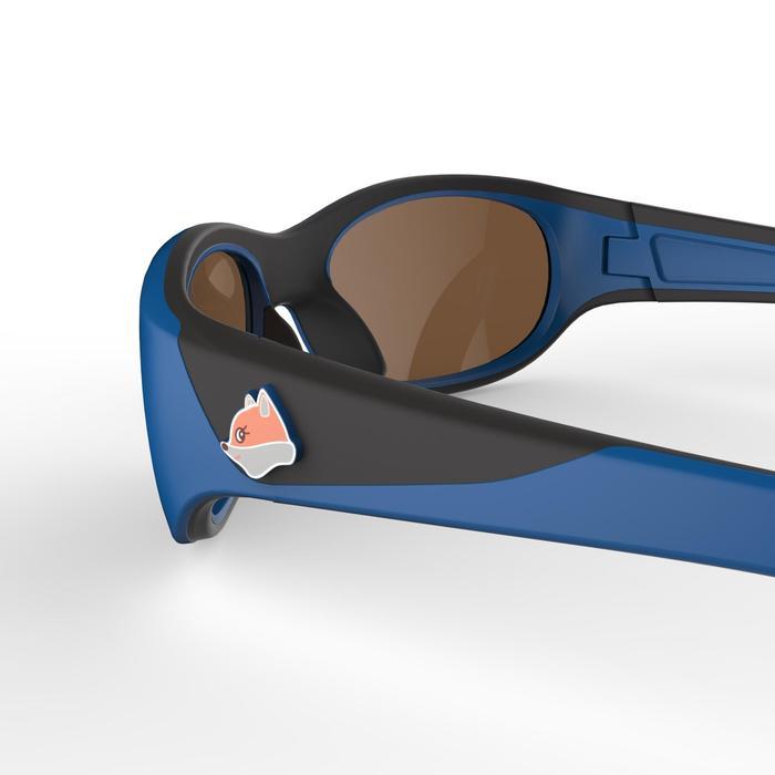 Gafas de sol de senderismo niños 4-6 años MH K 900 azul/naranja categoría 4