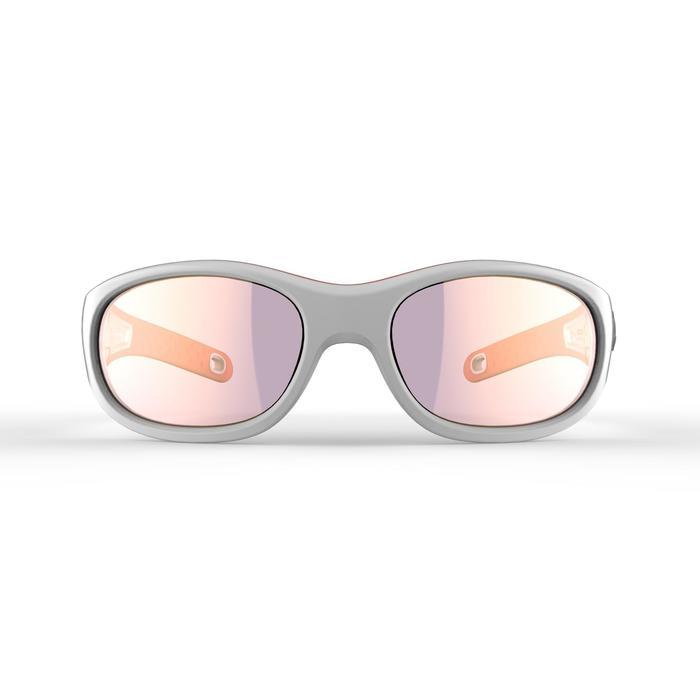 Wandelzonnebril voor kinderen 5-6 jaar MH K140 wit/oranje categorie 4