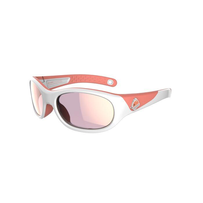 Gafas de sol de senderismo júnior 5-6 años MH K 140 blanco/naranja categoría 4