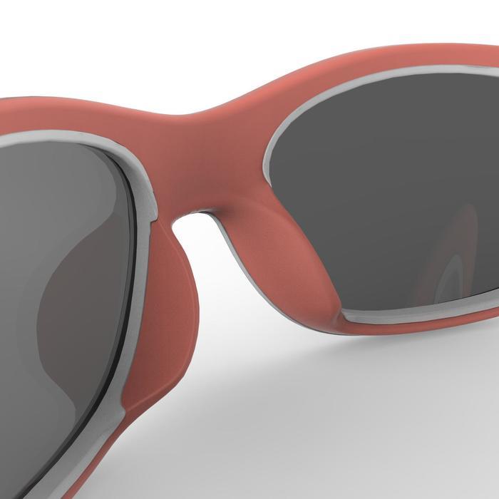 Sonnenbrille Wandern MH140 Kategorie Kinder 5–6 Jahre rosa/weiß
