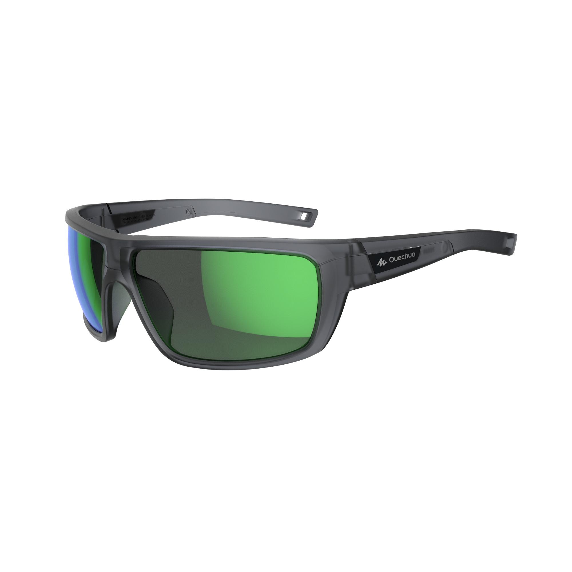 Hiking 300 Adult Category 3 Hiking Glasses - Grey & Green