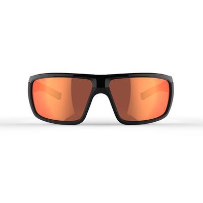 نظارات تسلق الجبال Hiking 300 للكبار من الفئة 3 - لون أسود وأحمر