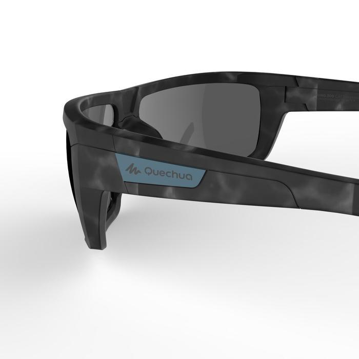 Sonnebrille Hiking 300 Pola polarisierend Kategorie3 Erw. Schildplattoptik grau