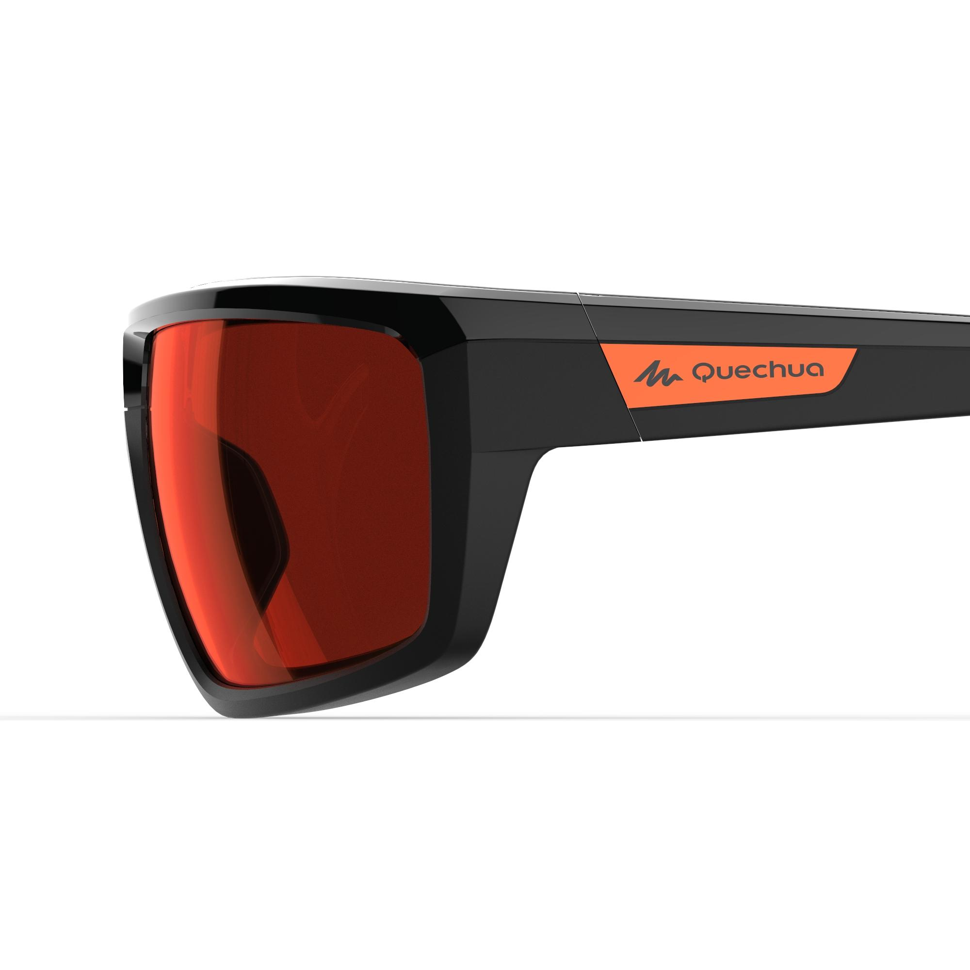 Hiking 300 Adult Category 3 Hiking Glasses - Black & Red
