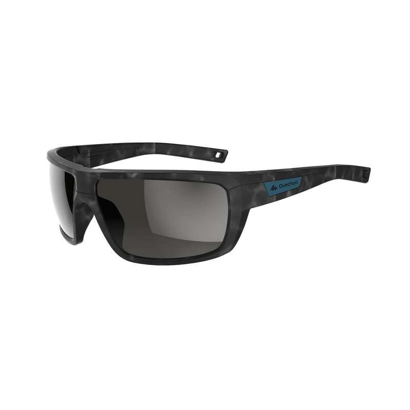 ADULT MOUNTAIN HIKING SUNGLASSES Hiking - MH530 POLA CAT3 - BLACK QUECHUA - Hiking