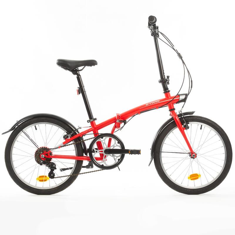 "Folding Bike Tilt 120 (20"") Red - Btwin"