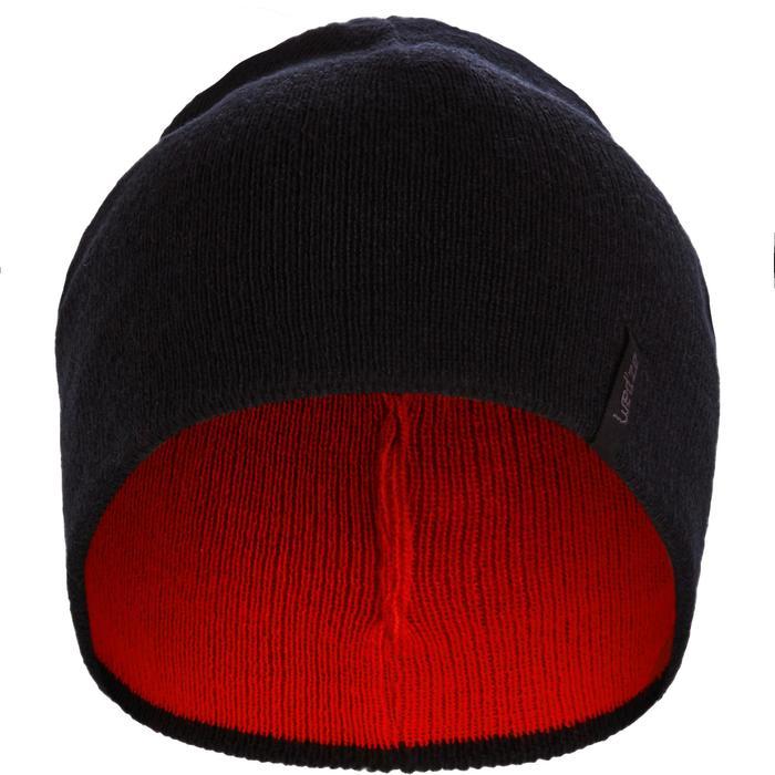 Wende-Skimütze Kinder schwarz/rot