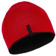 Črna in rdeča obojestranska smučarska kapa za otroke