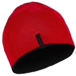 兒童雙面戴式滑雪運動帽 - 黑色 紅色