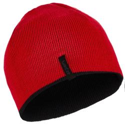 REVERSE CHILDREN'S SKI HAT - BLACK RED