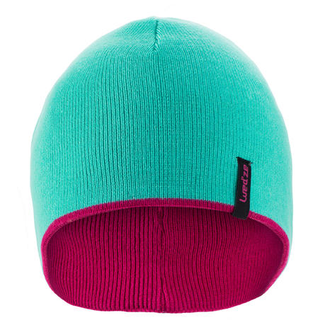 Kids Ski Reverse Hat - Pink Blue