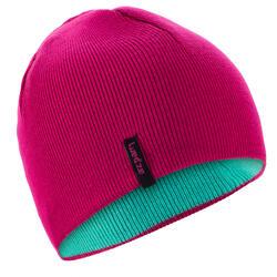 兒童雙面戴式滑雪運動帽 - 粉紅