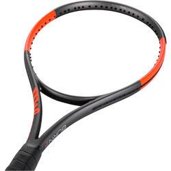 Tennisracket voor volwassenen Burn 100 LS grijs/oranje
