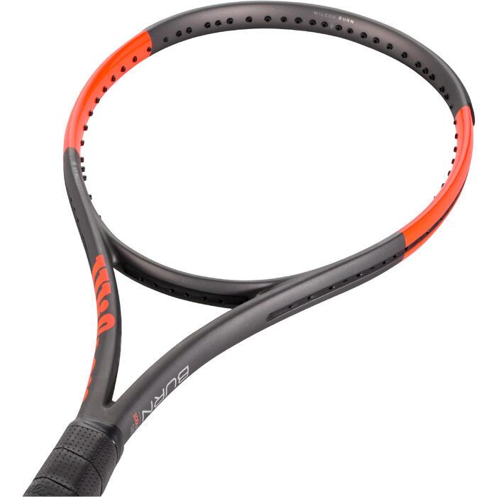 Tennisracket Wilson Burn 100 ULS grijs oranje