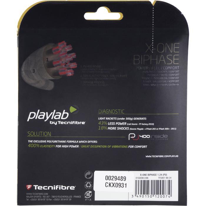 CORDAGE DE TENNIS MULTIFILAMENTS X ONE BIPHASE 1.24mm NATUREL - 1250116