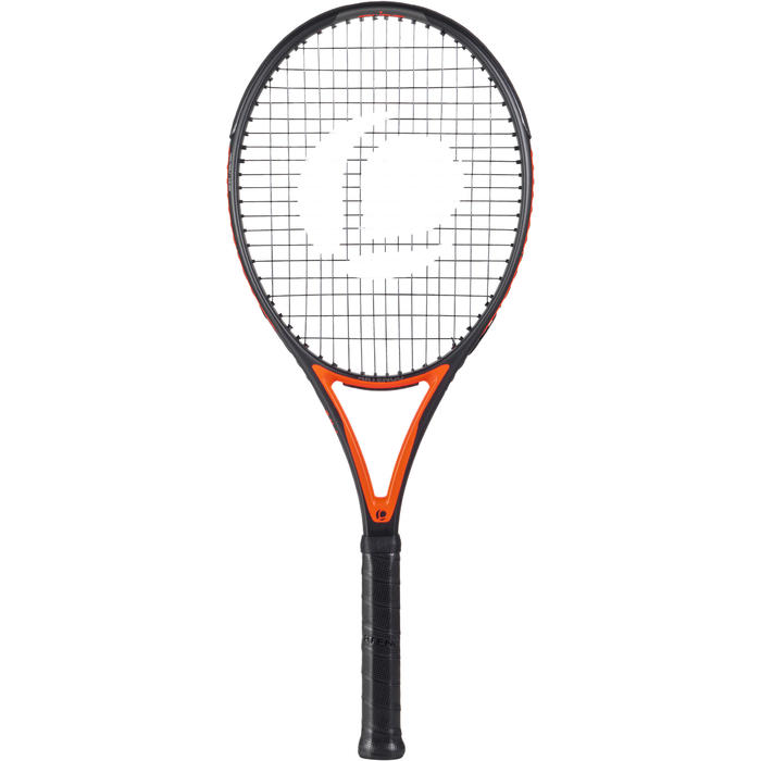 RAQUETTE DE TENNIS ADULTE TR 990 PRO NOIR ORANGE