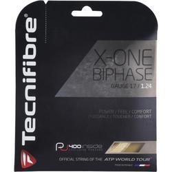 CORDAGE DE TENNIS MULTIFILAMENTS X ONE BIPHASE 1.24mm NATUREL