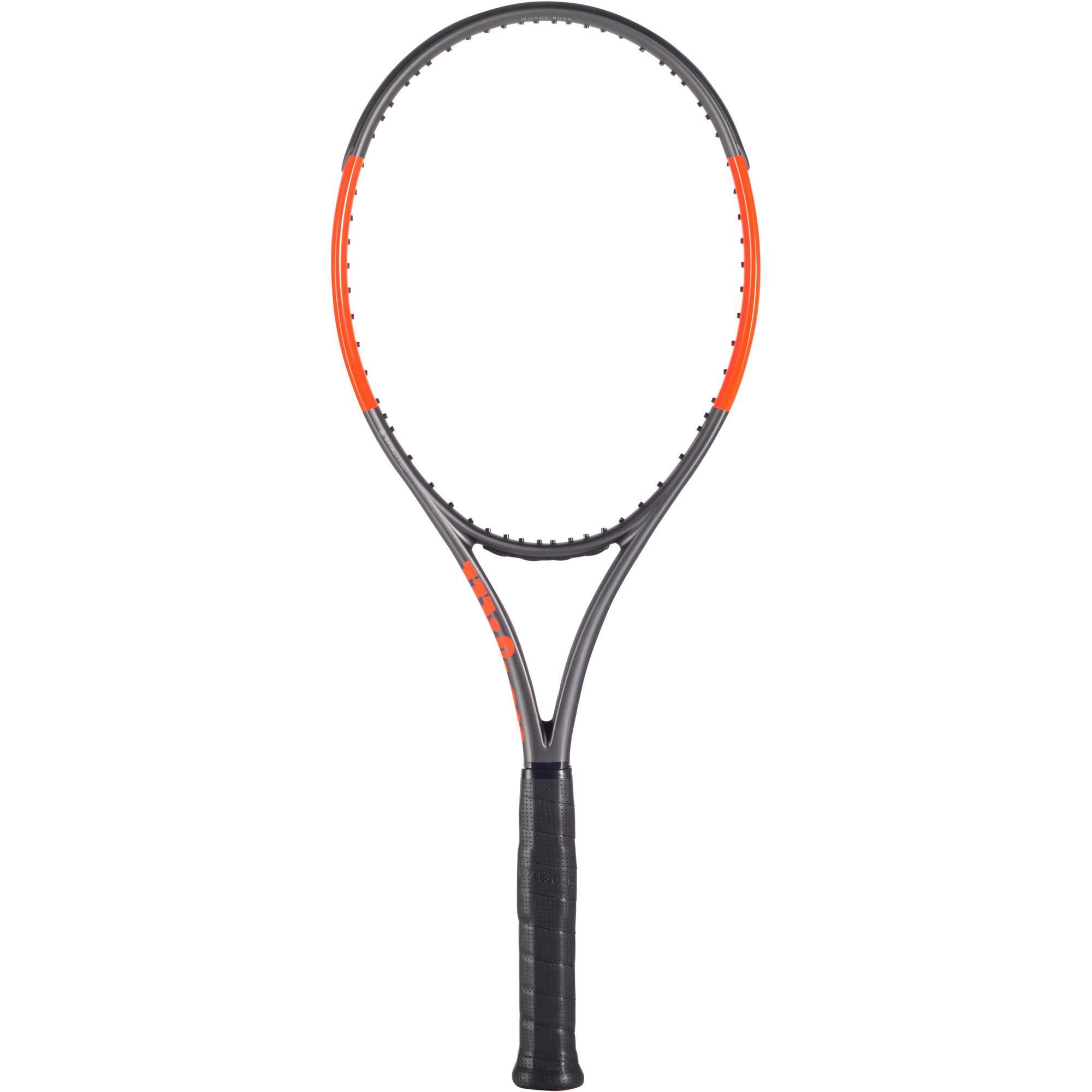 Wilson Tennisracket voor volwassenen Burn 100 LS grijs/oranje