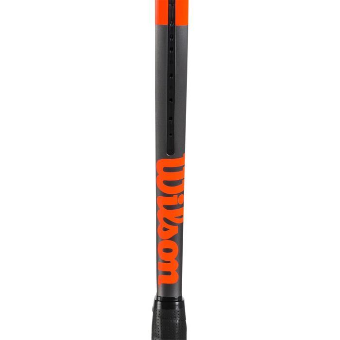 Tennisschläger Burn 100 LS Erwachsene grau/orange