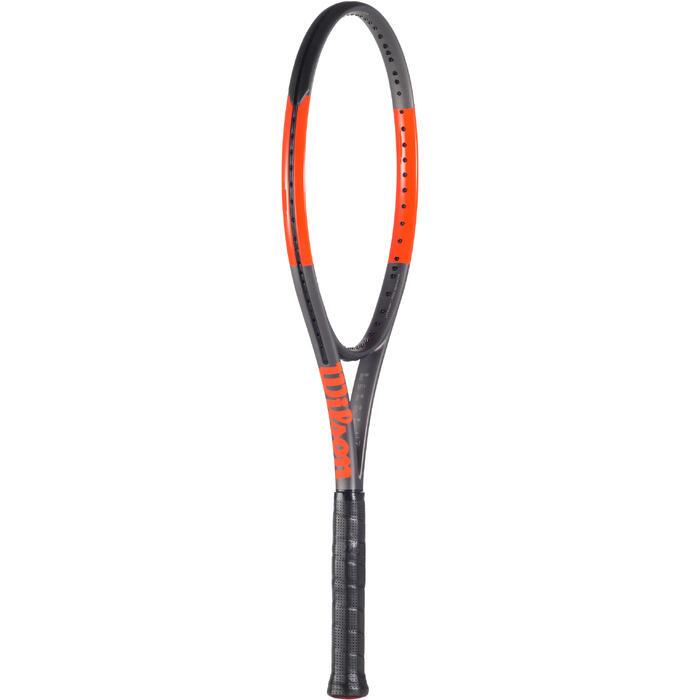 RAQUETTE DE TENNIS WILSON BURN 100 ULS GRIS ORANGE - 1250230