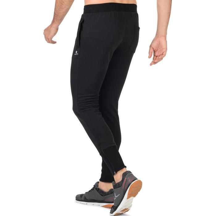 Herenbroek 520 voor gym en pilates, skinny fit, zwart