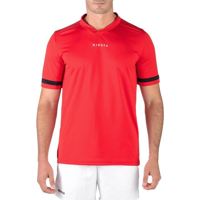 Rugbyshirt voor volwassenen R100 rood