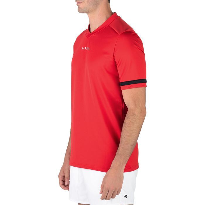 Camiseta rugby adulto R100 rojo
