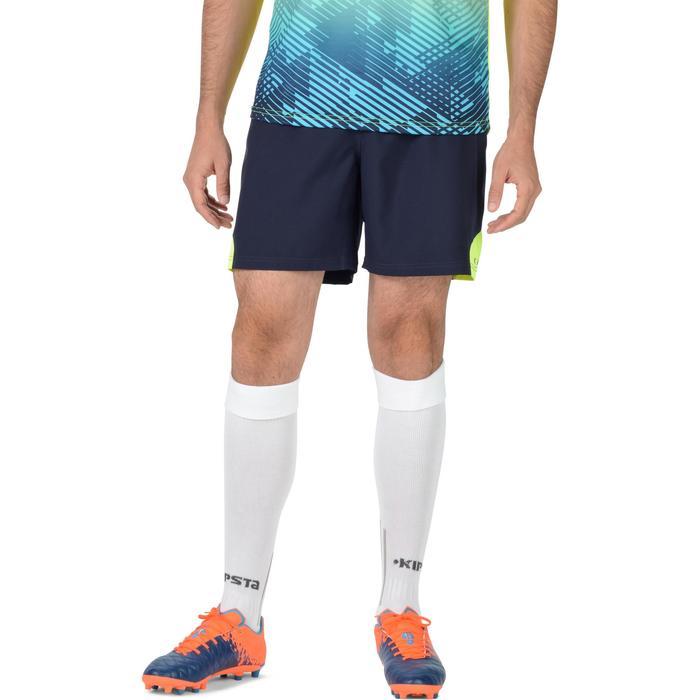 Short rugby homme R500 bleu jaune