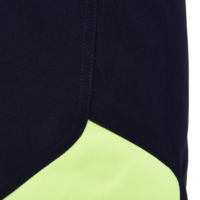 Pantalón corto Rugby Offload R500 adulto azul y amarillo