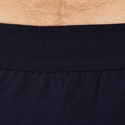 Pantalón corto de rugby hombre R500 azul amarillo