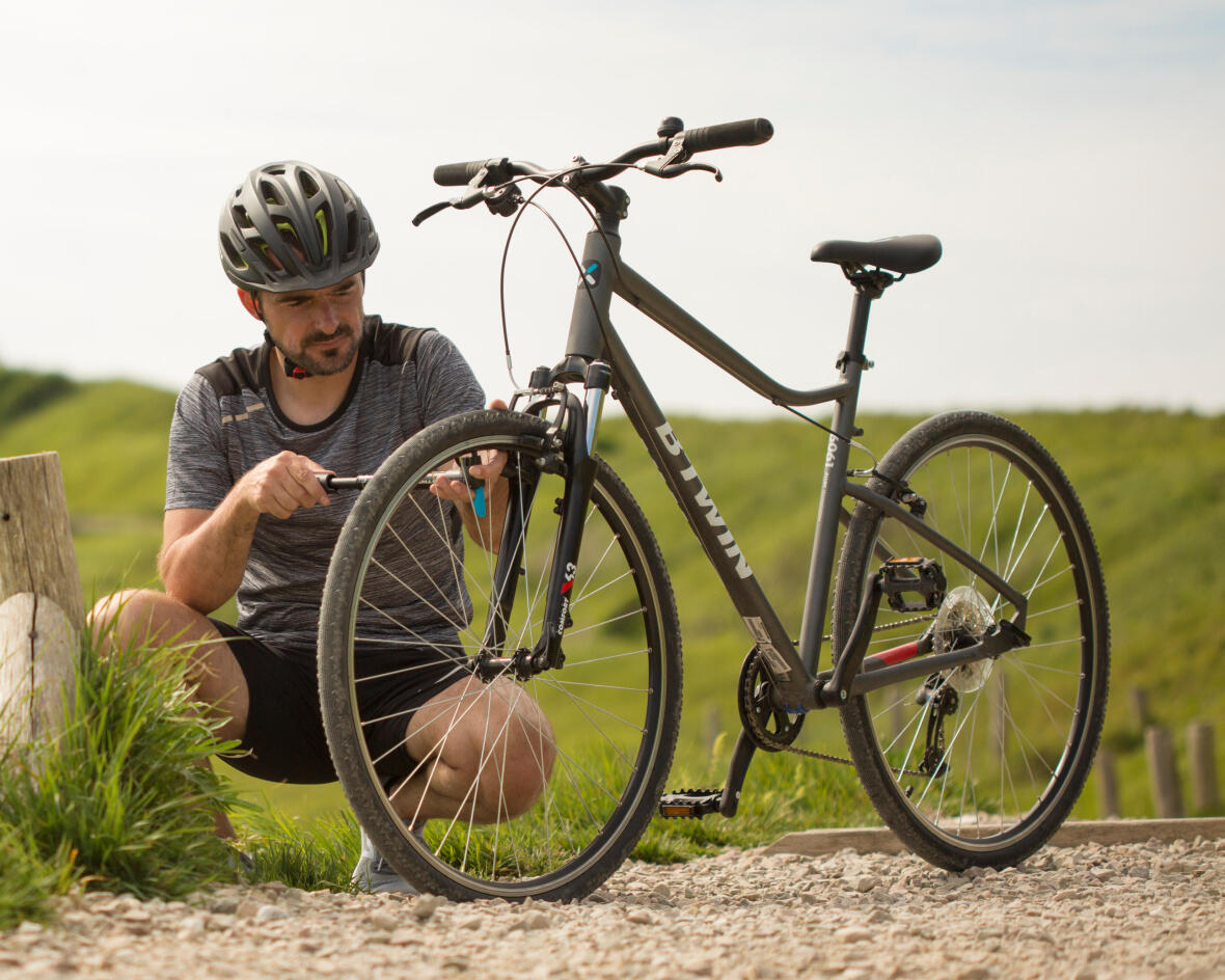 Check your bike tyre pressure before cycling